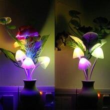 Сенсор Ночной свет цветок сливы Светодиодная лампа штепсельная