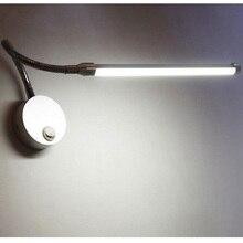 Silver Black 5W LED Hose Wall Lamp Flexible Mirror Light Bedside Reading Study LED Luminaire Lamps