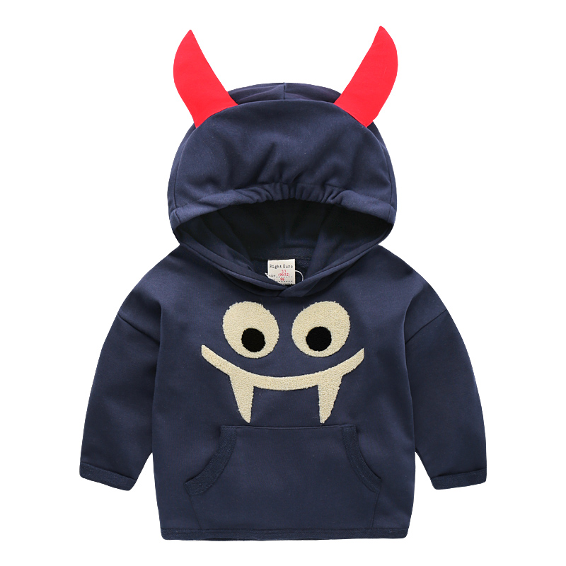 Maggies Walker Baby boys clothes Cute devil style hooded pullover for kids Children cotton spring autumn sweatshirts