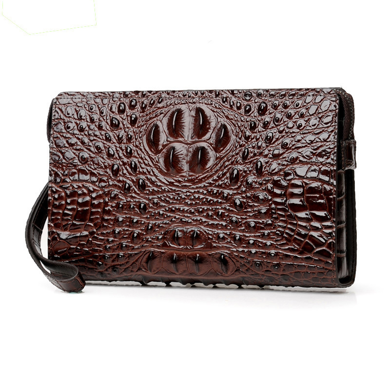 Crocodile pattern men's clutch bag password lock anti theft men wallet cowhide leather mobile phone bag card holder safty wallet-in Wallets from Luggage & Bags on AliExpress - 11.11_Double 11_Singles' Day 1