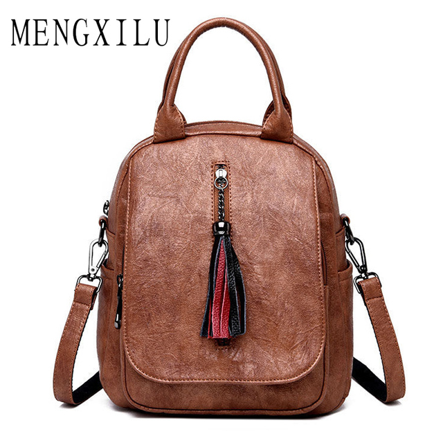 de7fc97270 Fashion Women Backpack Female Genuine Leather Women s Bucket Backpacks Bag  Travel Bags Back Pack Multi-