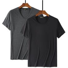 2020 kühlen T Hemd Männer 95% Bambus Faser Hüfte Hop Grund Leer Weiß T shirt Für Herren Mode T shirt Sommer Top t Tops Plain Schwarz