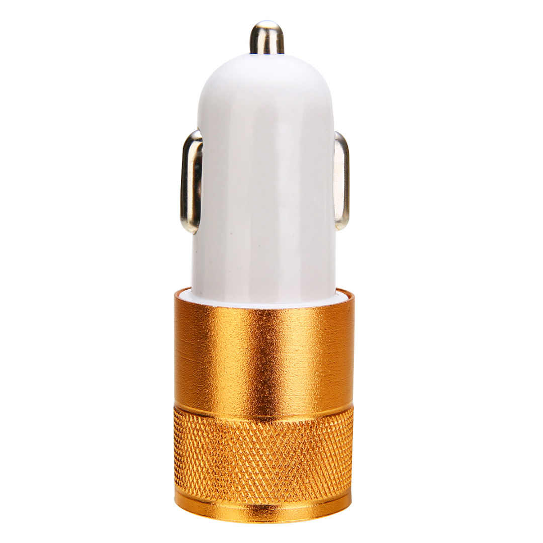 New Arrivals 2.1A Mini Dual 2 Port USB 12/24V Car Charger Adapter For Smart Mobile Cell Phone Auto Cigarette Lighter Mayitr