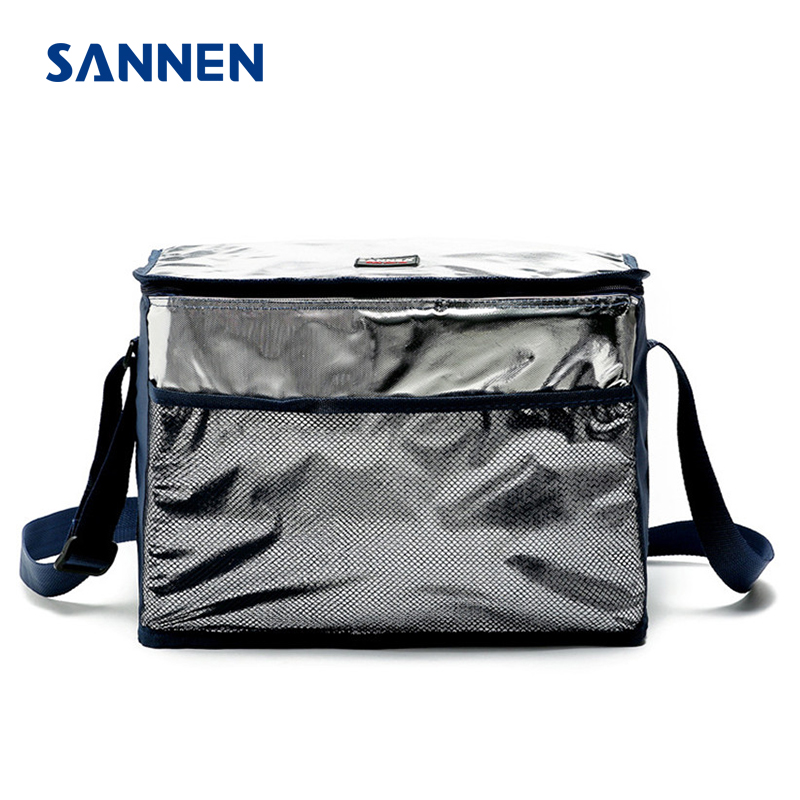 SANNEN 18L Insulated Picnic Cooler Bags Nylon Aluminum Film Thermal Waterproof Food Lunch Bags Isotherme bolsa termica Package