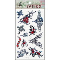 origin design DIY Fashion Body Art Beauty Tattoo waterproof temporary tattoo sticker for 12PCS/Lot wholesale
