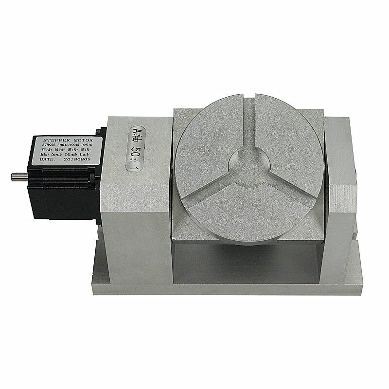 Rotary 4th 5th caixa de velocidades eixo harmônico (nenhuma histerese) CNC dividindo a cabeça de UM eixo e eixo C 50: 1 harmônica redutor para máquina cnc