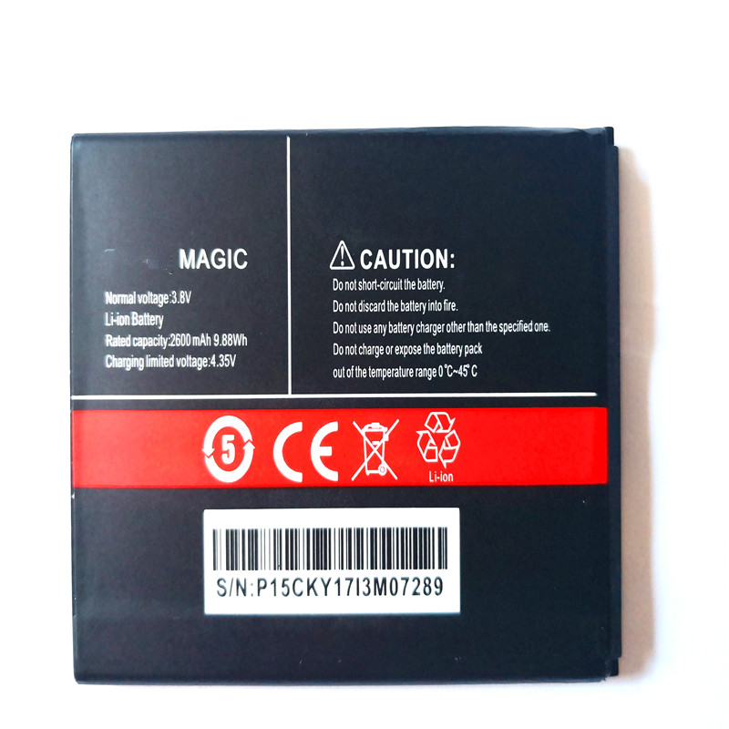 2600mAh Smartphone Replacement Battery For Cubot Magic Mobile Phone Black Battery Phone with phone stander for gift(China)