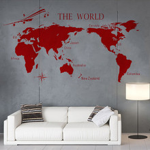 Vinyl Art Removable Poster MuralHigh-quality Products Exclusive Home Decoration Big World map Decals Decor pattern Stickers W95