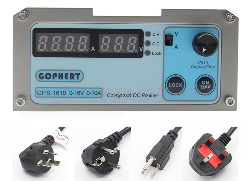 CPS-1610 Digital Adjustable Switching DC Power Supply OVP/OCP/OTP low power 0- 16V 0-10A 20A 110V-220V cps 3010ii 0 30v 0 10a low power digital adjustable dc power supply cps3010 switching power supply