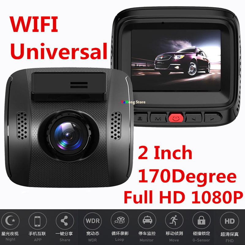 Mini 2.0 WIFI Dashcam Full HD 1080 P Auto DVR Camera Video Recorder 170 Graden met G sensor Nachtzicht Parking Monitor - 2
