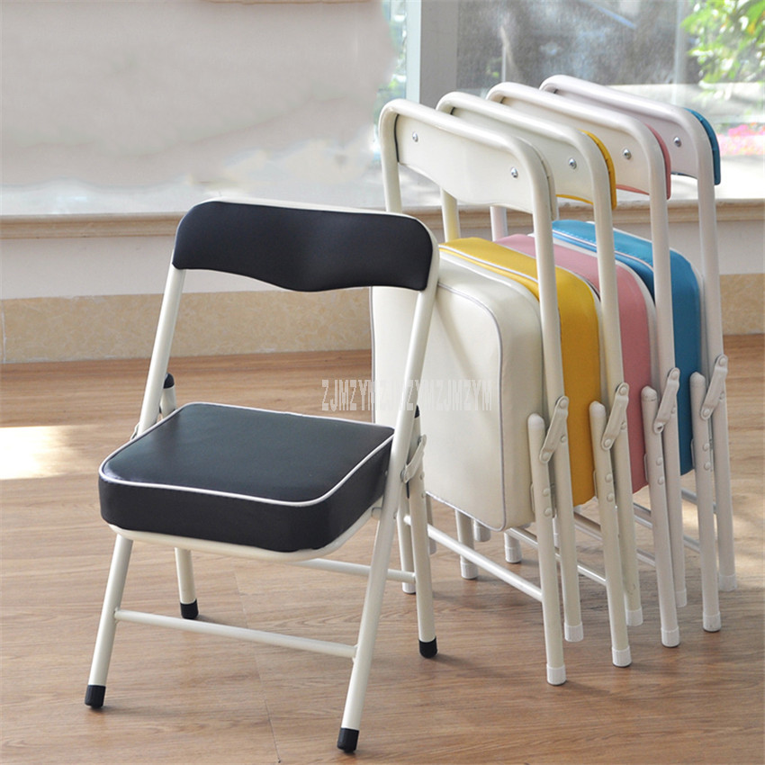 Chair:  Foldable Children Chair Metal Steel Frame Sponge Filler Baby Kids Learning Writing Study Mini Low Chair For Doll House Furniture - Martin's & Co