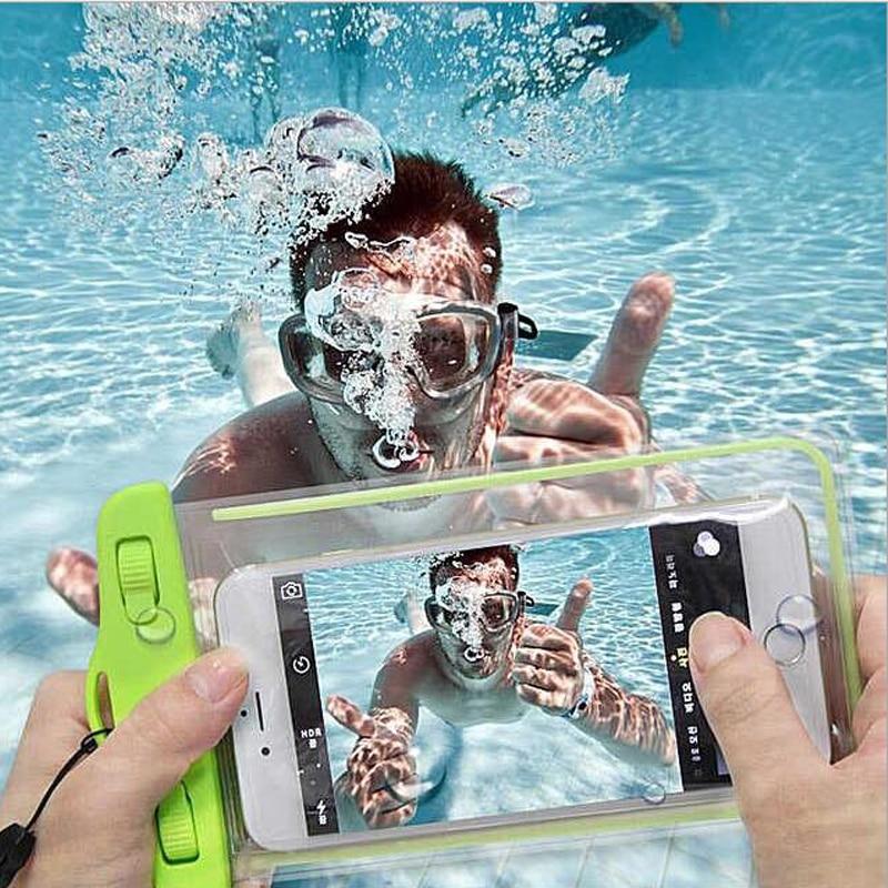 Bolsa impermeable con bolsa luminosa de teléfono bajo el agua para - Accesorios y repuestos para celulares - foto 2