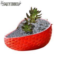 GQIYIBBEI Creative Resin Strawberry Orange Multi-meat Plant Flowerpot Home Office Garden Wedding Decoration Crafts Ornaments