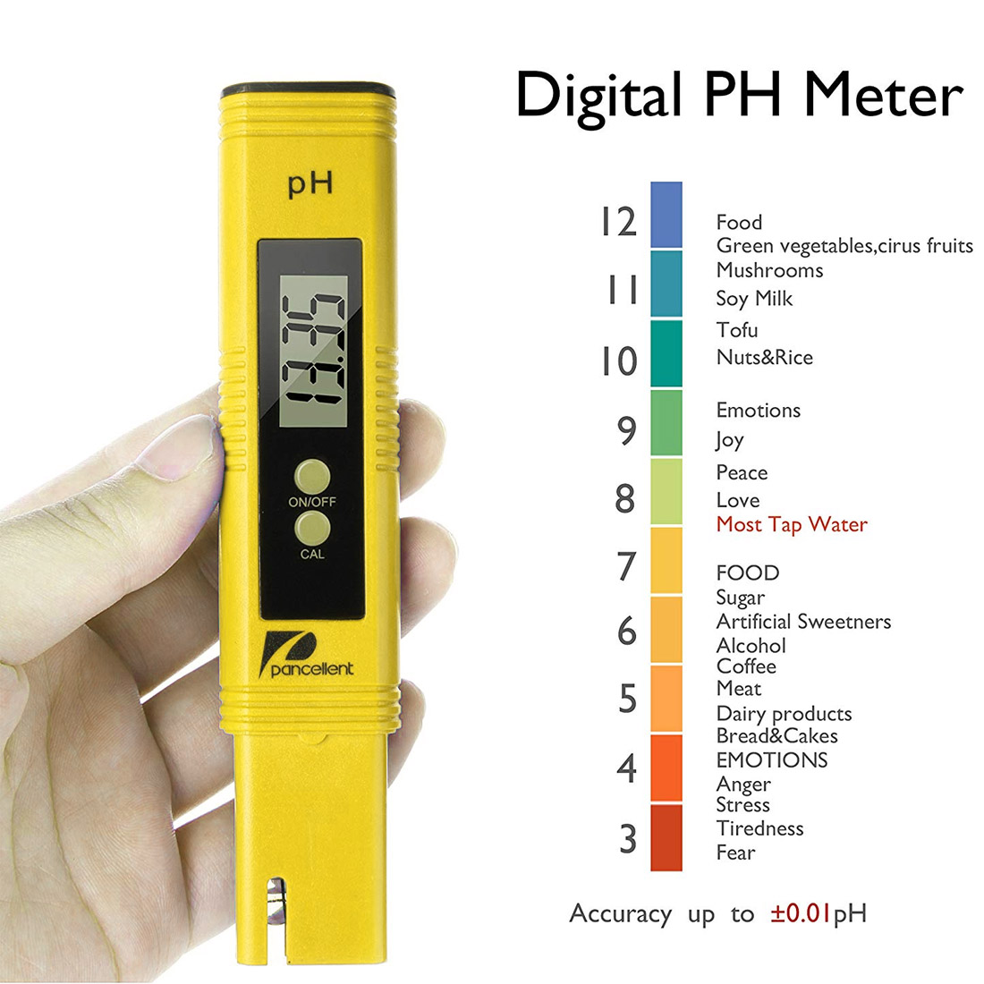 Équipement d'essai portatif de qualité de l'eau d'instrument de surveillance de PH de mètre d'acidité de PH de haute précision