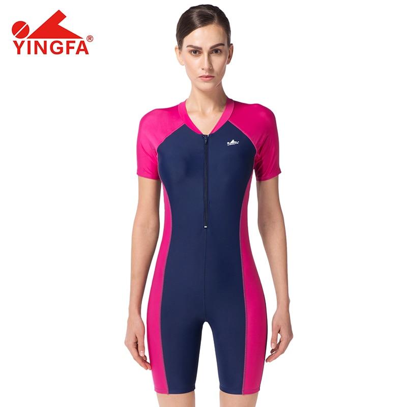 2019 New Yingfa YF1672 One Piece Swimsuit Women Swimwear Flat angle Professional chest pad Swimming Suit For Women