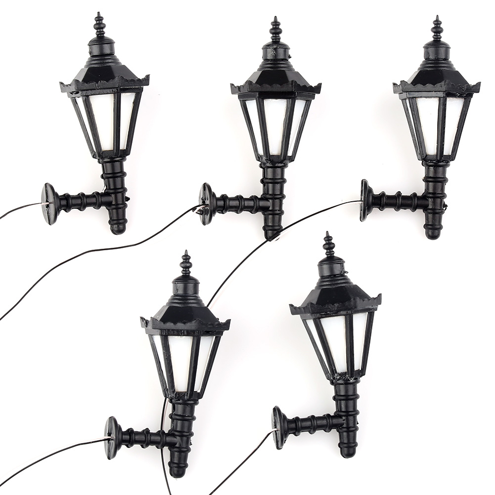 5pcs Model Railway Led Lamppost Lamps Wall Lights G Scale 1:25 3V New