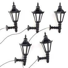 5pcs Model Railway Led Lamppost Lamps Wall Lights G Scale 1:25 3V New