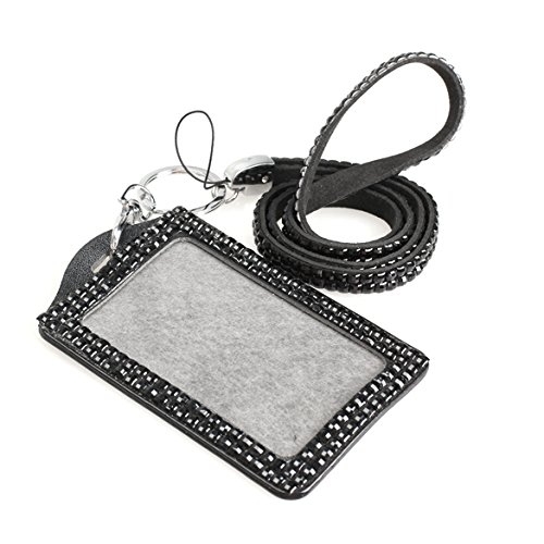 Nice Fggs-horizontal Resin Rhinestone Work Card Id Case Holder Lanyard Sling High Quality Materials Coin Purses & Holders
