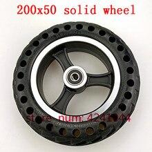 200x50 взрывозащищенные шины для электровелосипедов и ступицы колес 8 дюймов, твердые шины для мотоциклов с отверстиями для пчелиного улья