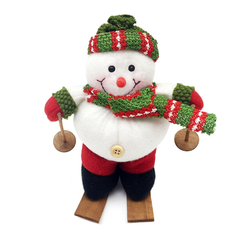 2018 hot sale new fashion cute explosive christmas sleigh santa claus dolls plush toys old decorations for home christmas in figurines miniatures from