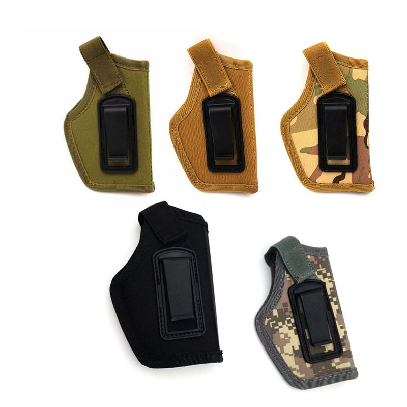 Tactical Pistol Holster Inside Waistband Concealed Carry Clip-On Holster Nylon Hunting Shooting Gun Holster Pouch Pistol Case image