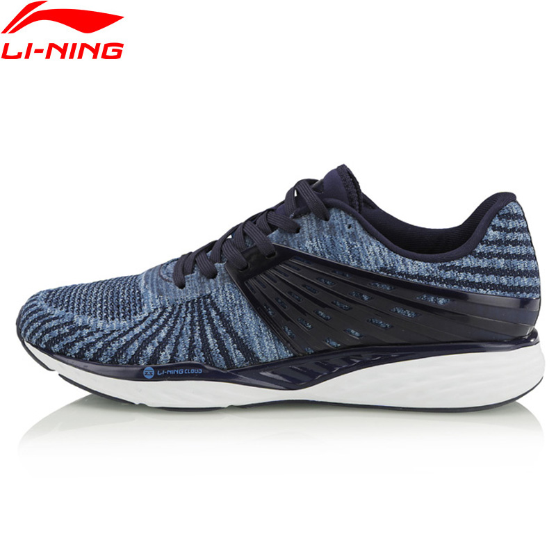Li Ning Men LN CLOUD Cushion Running Shoes Breathable Stable Support LiNing Mono Yarn Sports Shoes