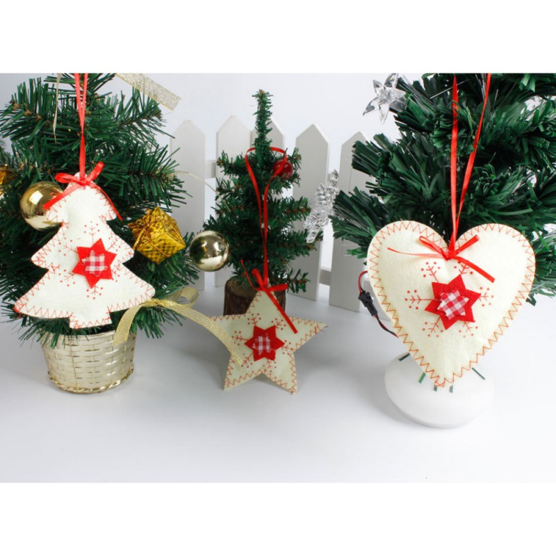 Christmas Tree Pendants Wood Craft Hanging Ornaments For