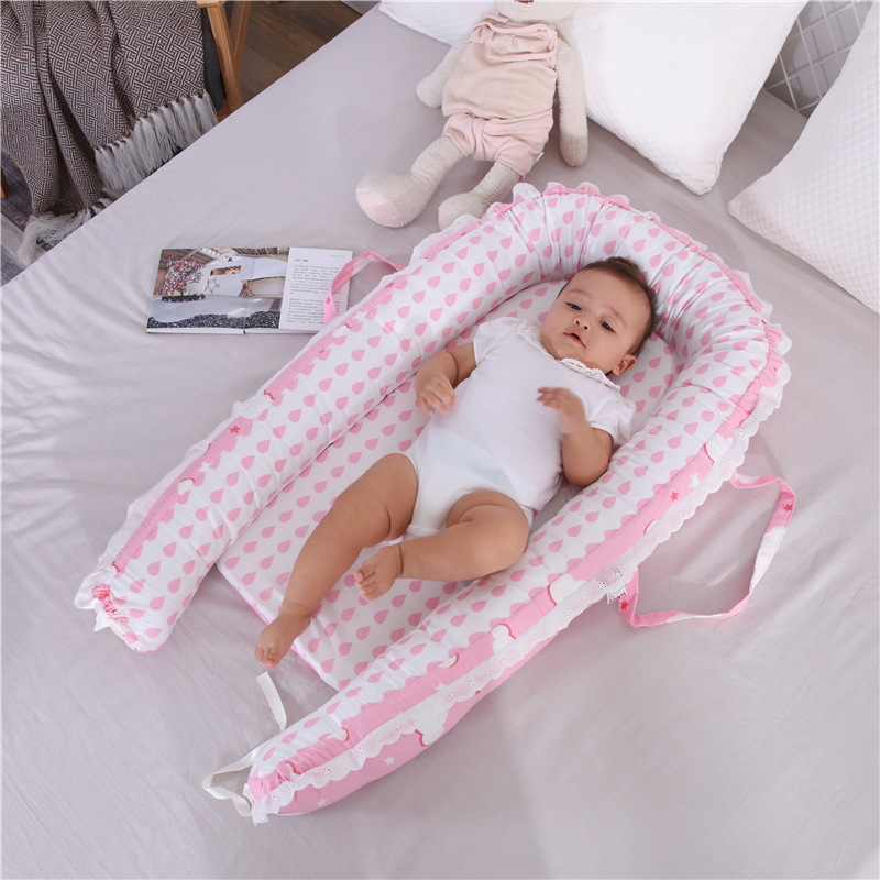 Dropshipping Baby Crib Bed Portable Washable Travel Bed Modeled Uterus For 0-1 Years Infant Kids Cotton Crib Newborn Cot