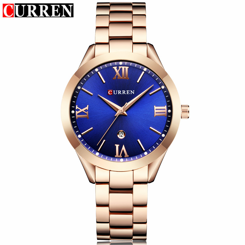 Curren Watches Brand Luxury Women Full Steel Quartz Watch 2018 Fashion Casual Ladies Dress Elegance Wristwatch relogio feminino silver diamond women watches luxury brand ladies dress watch fashion casual quartz wristwatch relogio feminino