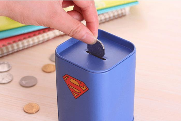 Marvelous Coin Bank For Kids #3: Guaranteed 100% SHIELD Batman Money Box Itazura Coin Bank Kids Money Bank  Piggy Bank Money Superman Money Box-in Money Boxes From Home U0026 Garden On ...