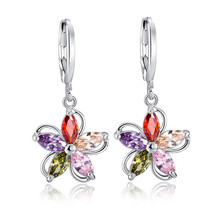 HOT Resist allergic popular Flowers earrings Fashion aretes retro brinco Jewelry for women free shipping