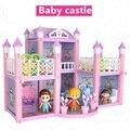 Детская принцесса большая семья замок Вилла пластиковая головоломка Сборка DIY Кукольный дом 3 года игрушки для детей подарок на день рожден...