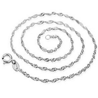 2015 New Fashion Sterling Silver Stainless Necklace Chains High Quality Christmas Gift