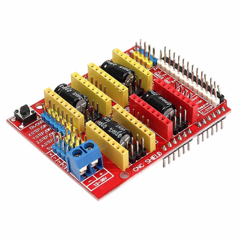 1ピースcncシールド+ 4 × drv8825ドライバキット用のarduinoの3dプリンタモジュールボード