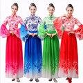 4 Colores de la Danza Yangko Tambor Ropa de Encargo del Estilo Popular Chino Square Traje de la Danza Etapa de Moderno para Las Mujeres