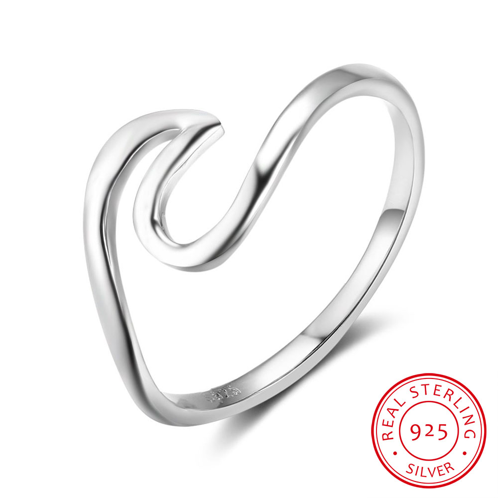 925-Sterling-Silver Rings Jewelry Engagement Vintage-Style Girlfriend Fashion Women Gift