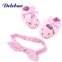 Delebao Baby Shoes Leisure Shoe Combination Suit Series Infant Toddler And headband