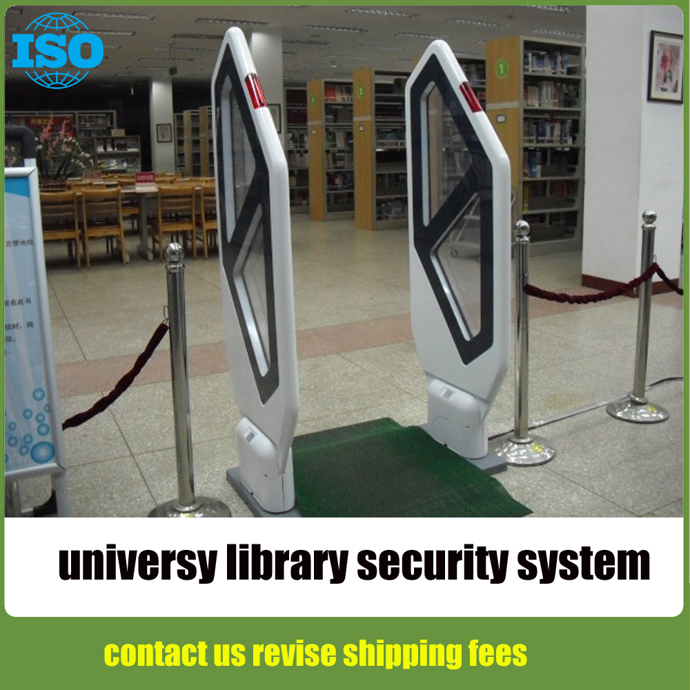 University  library anti theft system,book store shoplifting prevention system,library security system gate hzsecurity electromagnetic system em library anti theft system one aisle