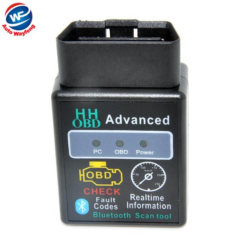2015 HH OBD MINI ELM327 v1.5 Svart Bluetooth OBD2 Bil CAN Trådlös - Bilelektronik