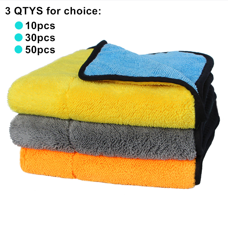 Super Thick Car Wash Microfiber Towel Car Clean Detailing Towel For Wholesale Retail Plush Microfiber Car Cleaning Cloth mjjc 40 50cm super absorbent car wash car care cloth detailing towels 840gsm microfiber towel car cleaning drying cloth