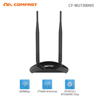 High Power Wireless WiFi Adapter Dual Wifi Antenna 2 6dBi 300Mbps Wireless Network Card USB WiFi
