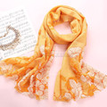 3 Colors Fashion Women Long Thin Wool Scarf Women Warm Soft Printed Scarves Spring Autumn Winter Style Bufanda Cachecol