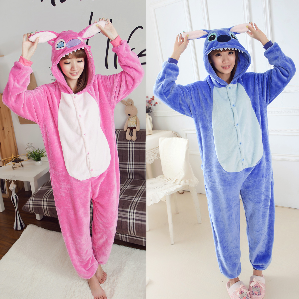 unisex men women adult cute pajamas cosplay costume animal onesie stitch sleepwear japan pajamas birthday halloween gift s xl in mens costumes from novelty