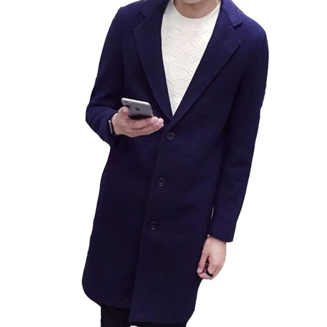New men trench slim fit full sleeve turn-down collar clothes coats fashion casual high quality autumn single breasted trench