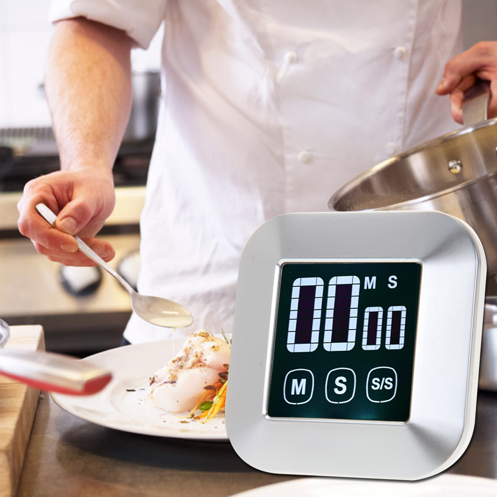 online buy wholesale kitchen cooking timers from china kitchen  - modern digital multifunctional alarm clock touch screen practical kitchencooking timer backlight desk rotating clock timer