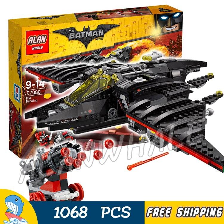 1068pcs Super Heroes Batman Movie The Batwing Fighter DIY 10739 Model Building Blocks Chidren Toys Bricks Compatible With lego 07080 1068pcs super heroes series batman fighter model building blocks set bricks toys for children gift 70916