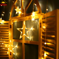 2M Christmas Lights AC 220V EU US Romantic Fairy Star LED Curtain String Lighting For Holiday
