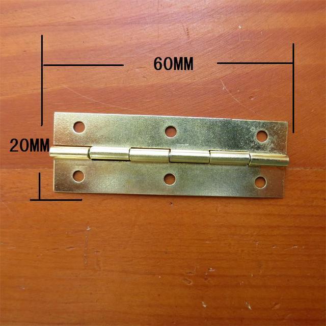 Yellow Metal Cabinet Door Luggage Mini Hinge6 Holes Decorfurniture
