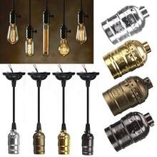 E27 Vintage Retro Edison Lamp Screw Bulb Aluminum Shell Base lamp Holder Pendant Bulb Light Socket  Without wire 110V 220V стоимость