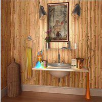 New Chinese Non Wovens 3D Stereoscopic Bamboo Wallpaper Bamboo Pasta Background Living Room Study Restaurant Wallpaper